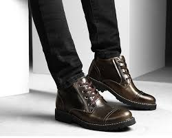 british classic dress boots men leather oxfords shoes winter casual fur ankle boots for man waterproof