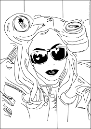 lady gaga coloring pages. Simple Gaga Album Lady Gaga Coloring Pages  Color PrintingSonic  To Coloring Pages G