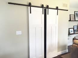 DOUBLE Sliding Barn Door Hardware Kit for TWO DOORS with 12 Feet track (144