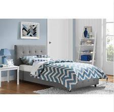 twin bed frame for kids adults bedroom furniture teen girls upholstered platform atlantic furniture orleans transitional twin open foot