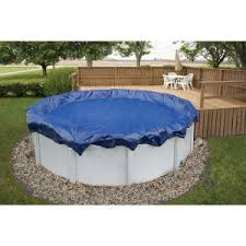 Blue Wave 15 Year 24 ft Round Royal Blue Above Ground Winter Pool