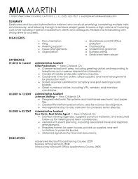 Admin Assistant Resume Sample Office Clerk Resume Professional Admin ...