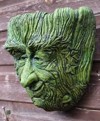 green man planter old rye frost proof