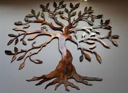 oversized metal tree wall art