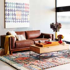 west elm furniture reviews. dekalb leather sofa 216 cm west elm furniture reviews