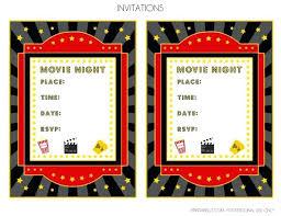 Movie Invitation Template Printable Movie Ticket Templates