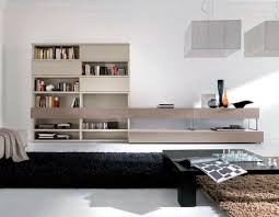 Living Room Wall Contemporary Living Room Wall Unit Lacquered Wood L116 Md House