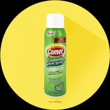comet foaming bath spray