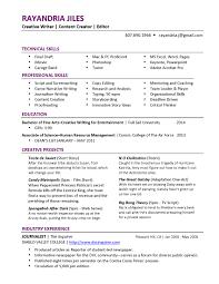 Writer Resume Resume Templates