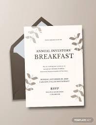 14 Corporate Breakfast Invitations Jpg Eps Ai Psd