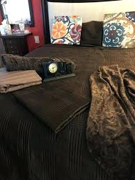 comforter set bedding queen sheet love clock brown throw rug pictures sold orange and rugs cl brown throw chocolate rug