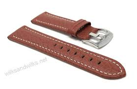 mens genuine leather watch band strap buffalo pattern available band widths 18mm 20mm 22mm 24mm