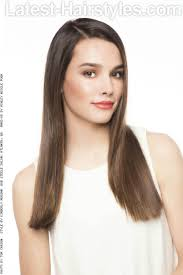 long sleek hairstyle for thin hair