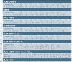 Www Hivis Co Uk Size Charts