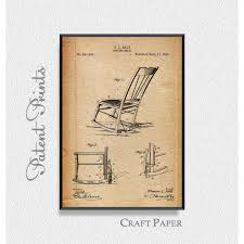 rocking chair drawing. Rocking Chair Patent Print · Drawing Z