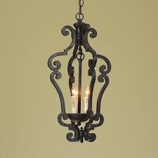 black iron scroll lantern small