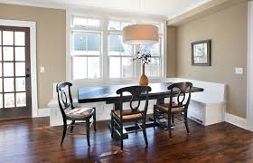 drum shade chandelier dining room contemporary with banquette bench