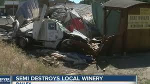 Semi crashes into Bailey winery