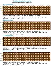 How To Read Bass Scale Charts 5 String Bass Guitar Scales Modes Tab Form Pictures
