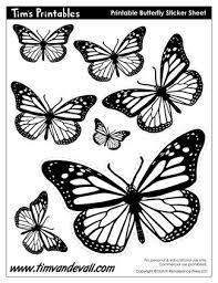 Butterfly Cutouts Template Printable Butterfly Templates And Butterfly Shapes