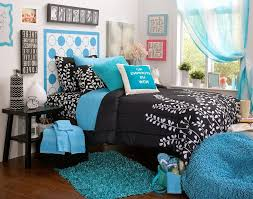 Black And White And Blue Bedroom Interior Design