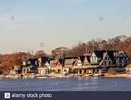 Boathouse Row Eagles Lights Philadelphia Pennsylvania November 26 2019 Boathouse