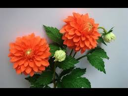 Dahlia Flower Making With Paper Abc Tv How To Make Dahlia Paper Flower From Crepe Paper 2 Craft Tutorial