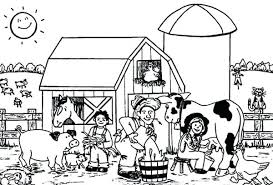 Farm Animal Coloring Pages For Toddlers Colouring Free Animals Pdf
