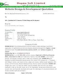 Website Cost Estimate Template Web Design Development Quote