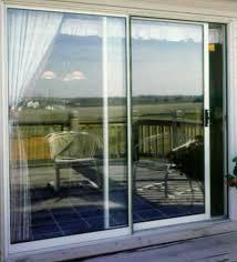 secure sliding glass door outside