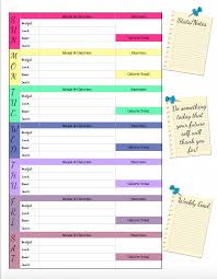 Free Printable Food Journal 6 Different Designs Track Food Water