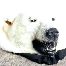 bear rug faux white bear rug faux skin with head polar fake white bear rug marvelous