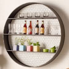 circle metal wall shelf awesome round metal en wire shelf shades of light