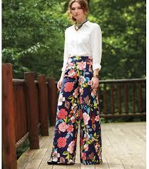 Wide Leg Patterned Pants