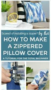 Installing A Zipper In A Pillow Cover