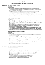 Merchandising Resume Manager Merchandising Resume Samples Velvet Jobs 14