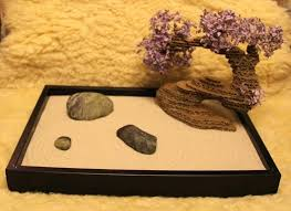 diy zen sand garden miniature zen gardens cool place put your bonsai home interior decorating design ideas