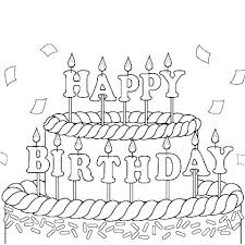 Happy Birthday Coloring Page Free Printable Happy Birthday Coloring