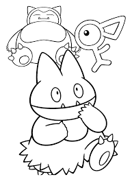 Pokemon Snorlax Unown And Munchlax Colouring Pages Get Coloring Pages