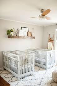 Neutral twin nursery - Boy Girl Twin Nursery - Gray and Natural Nursery -  Photography by