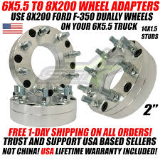 Details About 6x5 5 To 8x200 Wheel Adapters 2 Inch Use Ford F 350 Dually Rims On 6x139 7 Truck