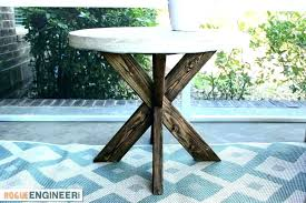 concrete top outdoor dining table diy white build round with gabby side kitchen stunning