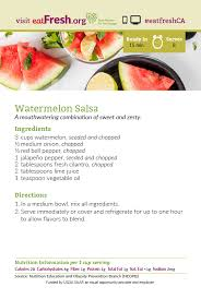 card recipe watermelon salsa recipe card