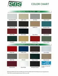 Mueller Metal Buildings Color Chart Color Guides Metal Buildings Sbs