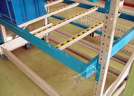 Powder Coating Rack Coating Carton Pallet Flow Rack Aluminum Alloy Flow Rails With 82