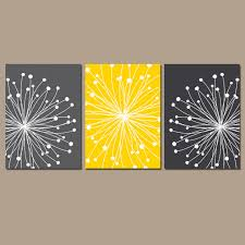 interior yellow and gray canvas wall art plantoburo com average grey modest 11 yellow