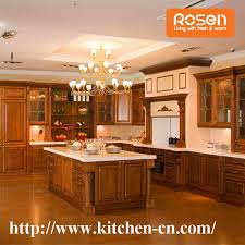 teak european style maple solid wood kitchen cabinet contemporary custom made in china