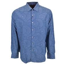 Robert Graham Shirt Size Chart Robert Graham Creedance Starburst Blue Button Down Sports Dress Shirt