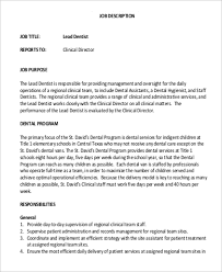 job description for a dentist sample dentist job description 9 examples in pdf
