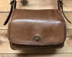 Vintage Coach Legacy Rambler Medium Saddle Brown Crossbody Purse 9061